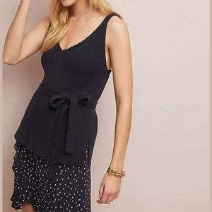 Anthropologie Belted Sweater Tank